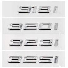 Auto Kofferbak Decoratie Voor Bmw Sticker Metalen Of Chrome Aantal Letters 318i 320i 323i 325i Voor Bmw 3 Serie e36 E46 F30 F31