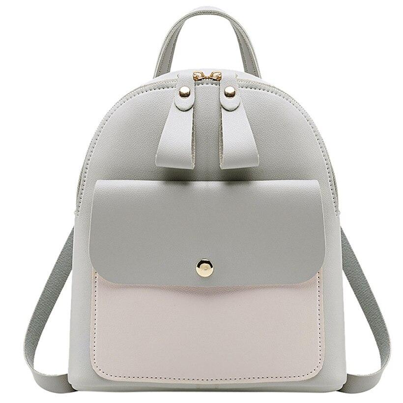 2019 mulheres mochila de couro crianças mini mochila feminina bonito panelled mochilas para adolescentes pequena famosa marca saco luxo