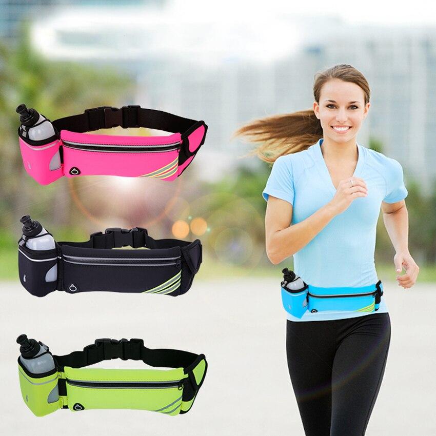 Correndo braçadeira cintura braço saco para iphone xiaomi 6.5 polegada jogging cinto barriga saco feminino ginásio de fitness senhora esporte acessórios