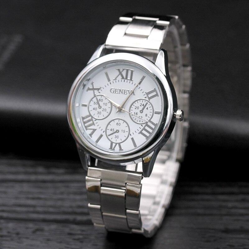 2021 Hot Sale Fashion Casual Women Watches Roman Numerals Quartz watch women stainless steel Dress w