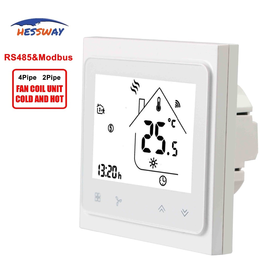 HESSWAY 2pipe 4pipe 3 speed rs485 rtu&Modbus THERMOSTAT Fan coil units for cool heating