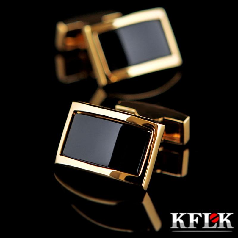 KFLK shirt cufflinks for men's Brand cuff buttons Gold-color cuff links gemelos High Quality wedding abotoaduras guests