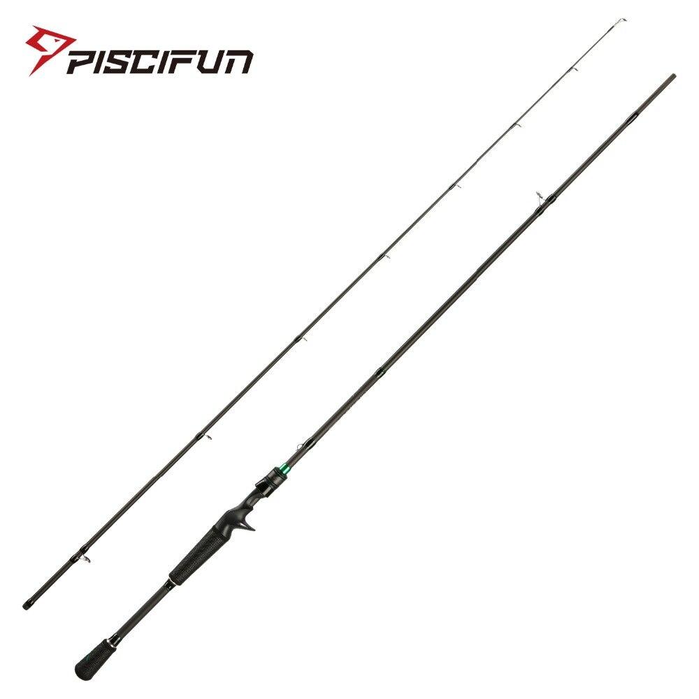Piscifun Serpent Two Pieces Baitcasting Rod 2 PCs Casting Rod 2M 2.1M M MH Fuji Guides IM7 Toray Carbon Fiber Fishing Rod