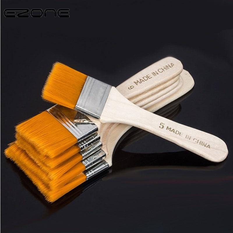 EZONE нейлоновая кисть для окрашивания волос, масляная Акварельная водяная пудра, пропиленовая акриловая кисть разного размера, школьные художественные Кисти