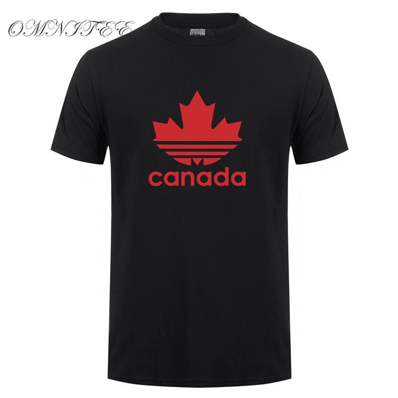 Neue Design Kanada T Hemd Männer Lustige Kanadischen T Shirts Kurzarm O-ansatz Baumwolle Mans Kanada Flagge T-shirt Tops OZ-116