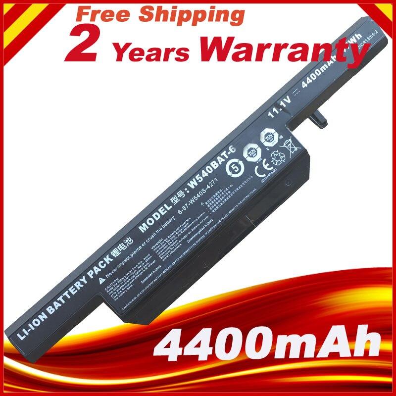 Batería para ordenador portátil, 6-87-W540S-4U4 6-87-W540S-4W41 W540BAT-6 para CLEVO W155U W540EU W545EU