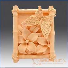 3D Bamboe Vlinder Bloem Zeep Siliconen mal kaars schimmel DIY Carft mallen S019