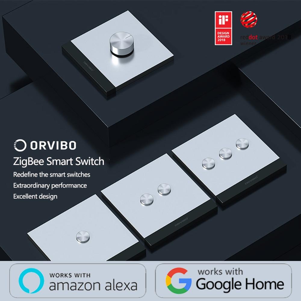 2020 Orvibo GEEKRAV ZigBee Smart Switch zero&fire switch metal button remote sensing control