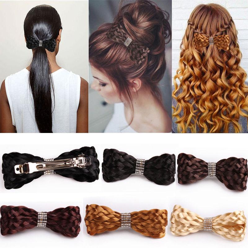 Mulheres Lady Meninas Moda tiara clipe Grande Arco Laços de Torção peruca Hairpin Headwear Elegante arco de Cabelo Clips Acessórios parágrafo PVC headband