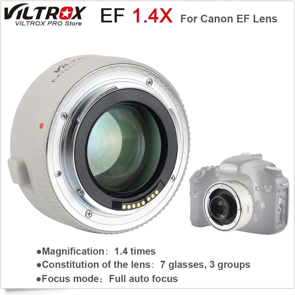 VILTROX 1.4X Teleplus السيارات التركيز ومح موسع تليفوتوغرافي تحويل لكانون EOS و EF عدسة 70-200 مللي متر 5D3 5D2 700D 70D