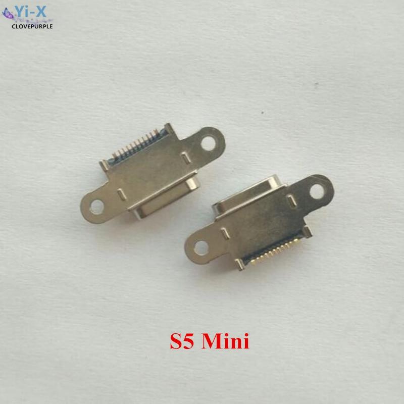 Precio al por mayor 100 unids/lote cargador Puerto de carga Micro USB conector de muelle para Samsung Galaxy S5 Mini G800 piezas de reparación