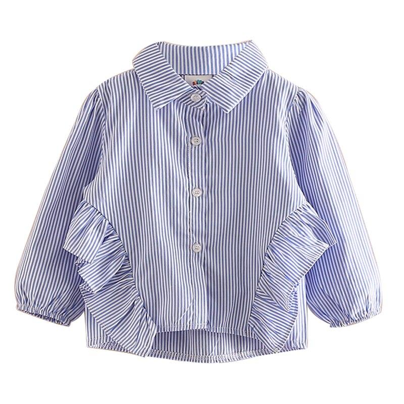Рубашка с длинными рукавами для новорожденных девочек в полоску сезон весна