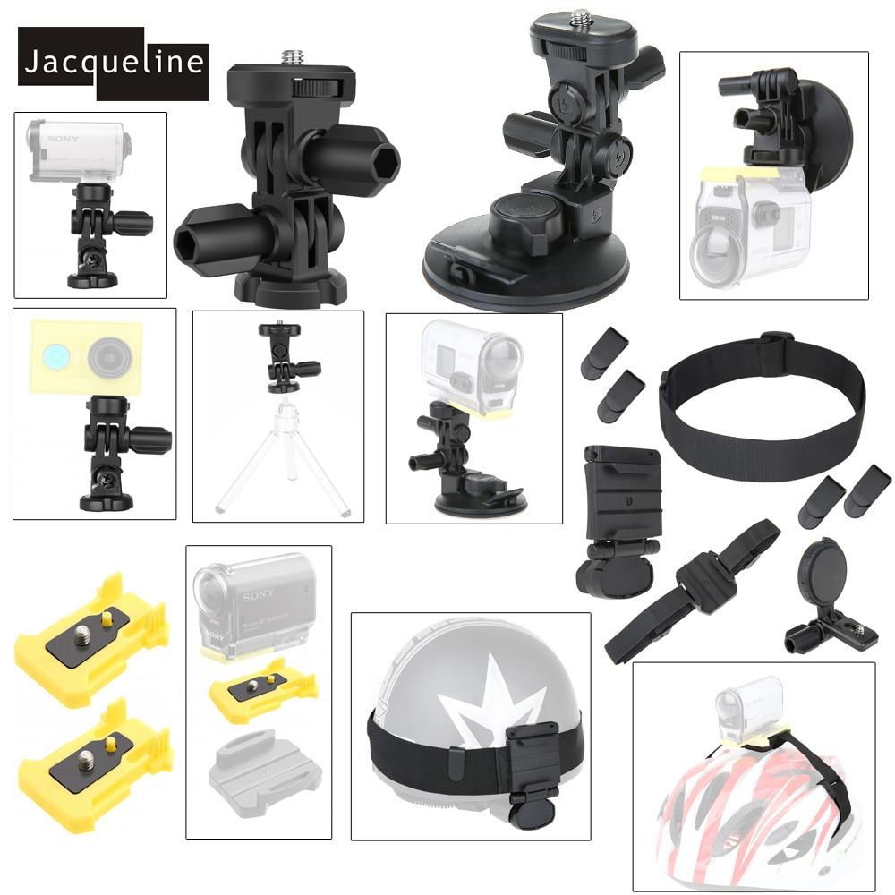 Jacqueline для крепления на голову комплект аксессуаров для экшн-камеры Sony HDR AS15 AS20 AS200V AS30V AS100V AZ1 mini FDR-X1000V/W 4 k