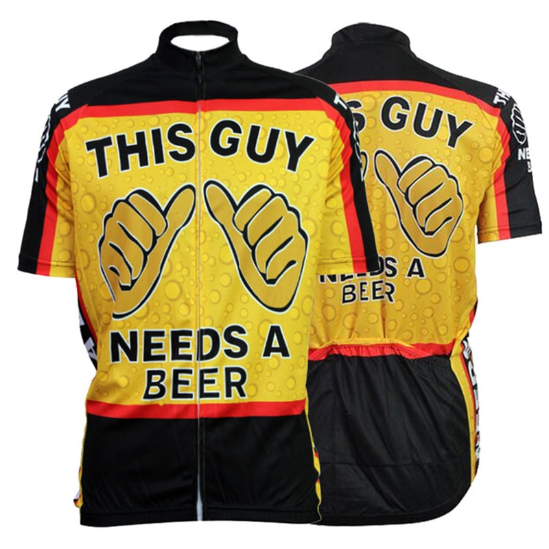 Beer-Ropa De Ciclismo para Hombre, jerseys Retro Para Bicicleta De Montaña, uniforme...