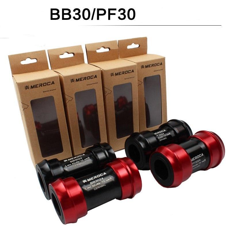MEROCA BB30 PF30 para calar, 24mm 22, bicicleta de cerámica, prensa BB, soporte inferior de bicicleta