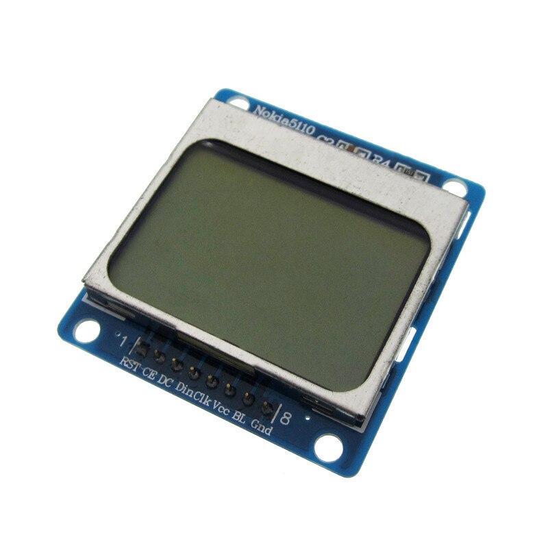 1 шт. синий 84X48 5110 ЖК-модуль с синей подсветкой с адаптером PCB LCD5110