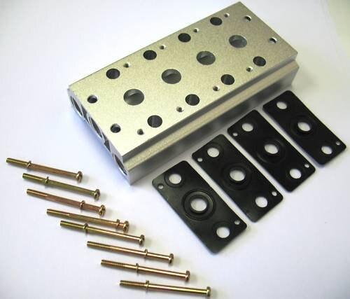Válvulas piloto de aire solenoide colector de 4 filas 4V 400 Series 400M-4 para 4V410-15