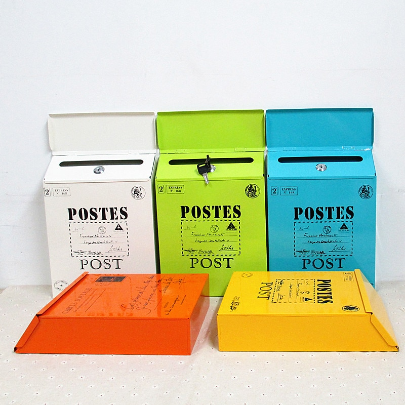 الإبداعية صندوق البريد معدن خمر القصدير صندوق بريد مقاوم للماء آخر صناديق دلو ريفي الحديد المطاوع صندوق البريد صحيفة رسائل مع قفل