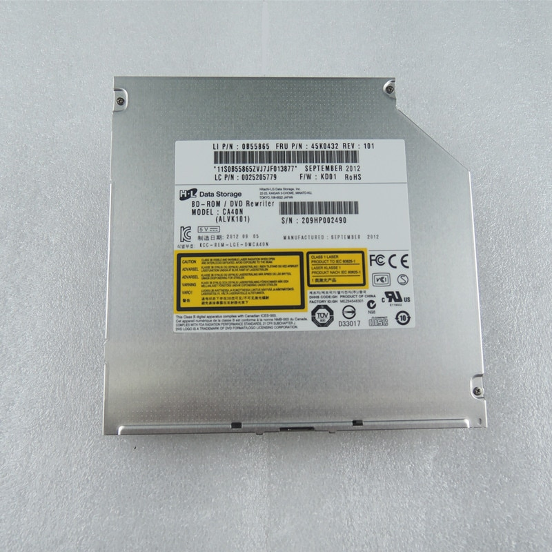 أو LG HL CA40N محمول سوبر متعددة 6X 3D BD-R DL TL QL 100GB BD-ROM كومبو بلو راي لاعب 8X DVD-R RW الكاتب 12.7 مللي متر SATA محرك