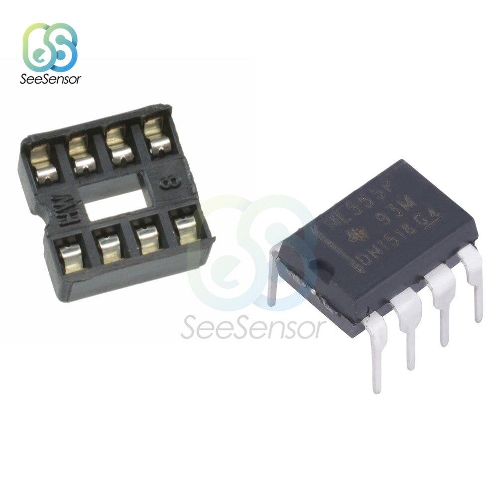20 piezas NE555 temporizadores, conectores Dip de 8 pines, juego de 10 Uds. Cada uno DIY, electrónico para Arduino Adapter Tipo De Soldadura