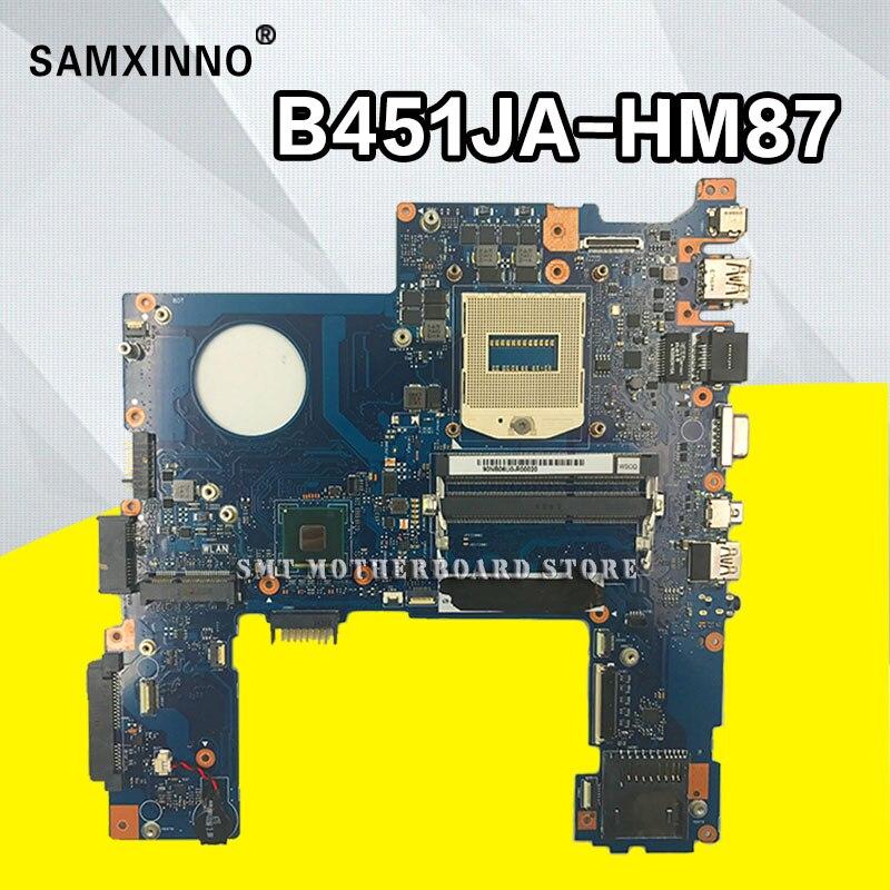 Placa madre B451JA para For Asus B451J B451JA, tarjeta madre de ordenador portátil Intel SR17D HM87 DDR3L 100%, placa base completamente probada