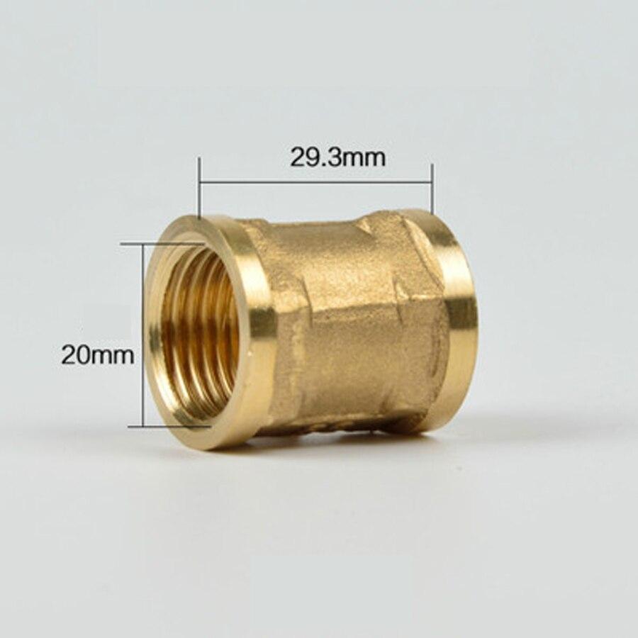 """DN15 G 1/2 """"BSP acoplamiento hembra conector de instalación de tuberías de latón adaptador de plomería longitud 29,3mm"""