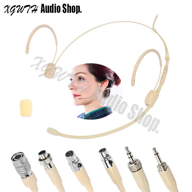 Cabeça Usando Fone De Ouvido Mic Microfone omnidirecional para Audio Technica Sennheiser Shure Sistema de Microfone de Karaokê Sem Fio MiPro