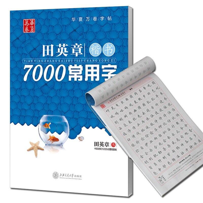 7000 caracteres de chino cuaderno chino caligrafía pluma cuaderno guión Regular
