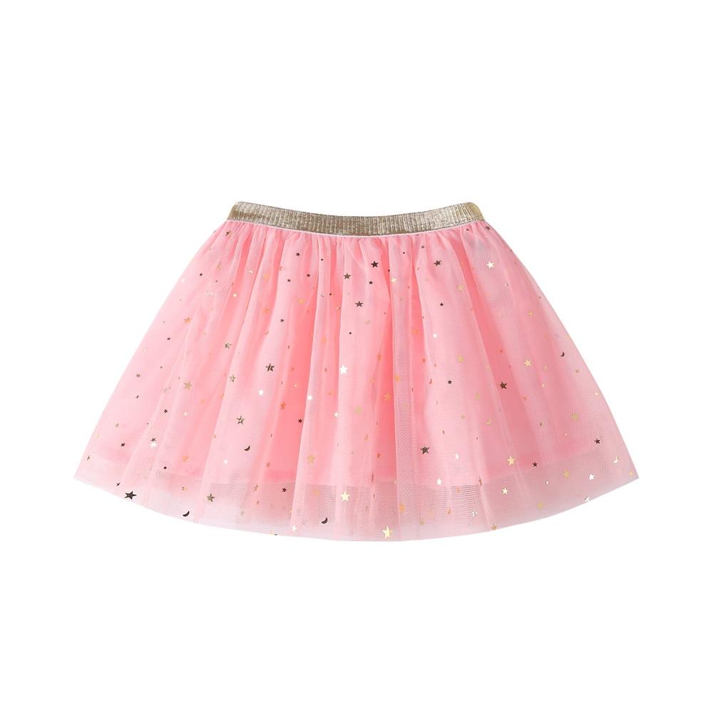 Moda bebé niñas princesa estrellas lentejuelas fiesta danza faldas tutú para ballet tule falda niñas niños falda ≤block