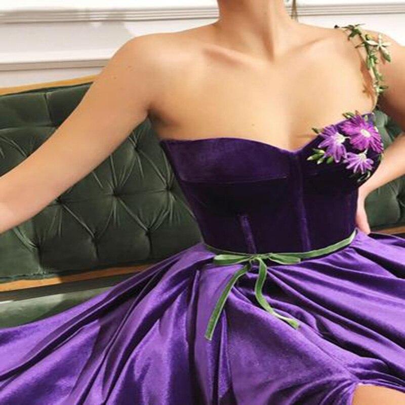 Long Evening Dress 2019 Oman Sweetheart One-shoulder High Slit Sleeveless Arabic Satin Sexy Formal Evening Gowns Saudi Arabia