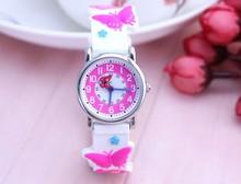Wills enfants montre étanche étudiants lumineux mignon papillon fille ceinture quartz montre montres femmes montre de mode