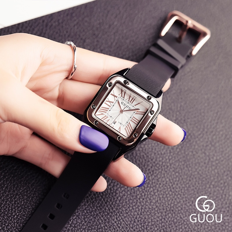 Luxury Women Watch Women Roman Numbers Watches Rubber Silicon Casual Dress Watch Ladies Quartz Watches reloj mujer montre femme enlarge
