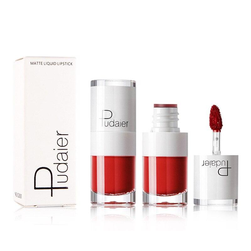 Pudaier multifunción tinte de labios brillo de labios colorete lápiz labial maquillaje impermeable líquido cosmético lápiz labial brillo de labios