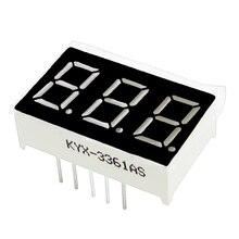 """20 stks 3bit 3 bit Common Cathode Digital Tube 0.56 """"0.56in. Rode LED Digit 7 Segment"""