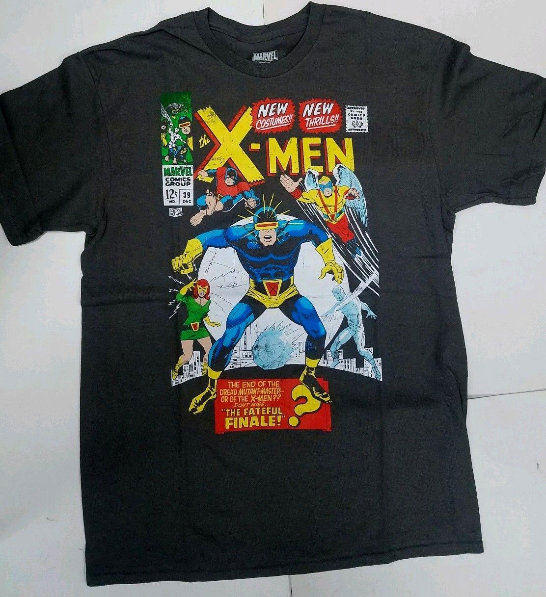 Marvel Comics x-men Cyclops The Fateful Finale camiseta para hombres adolescentes algodón Natural impreso camiseta Camiseta cuello redondo hombres