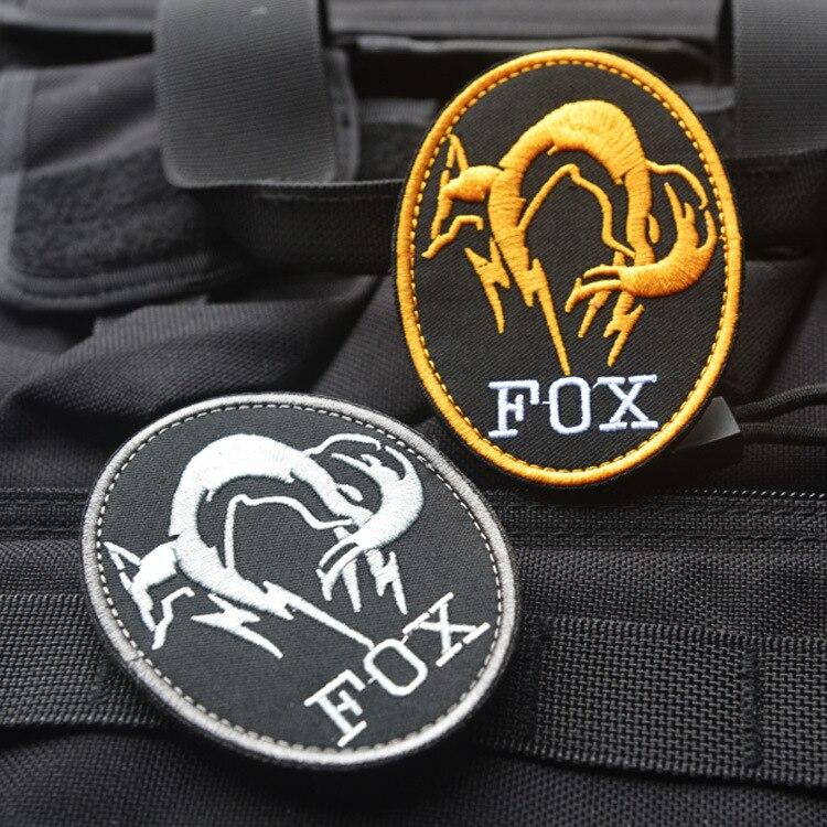 Черная металлическая шестерня, твердая MGS FOX HOUND, специальная сила, вышивка Ghost