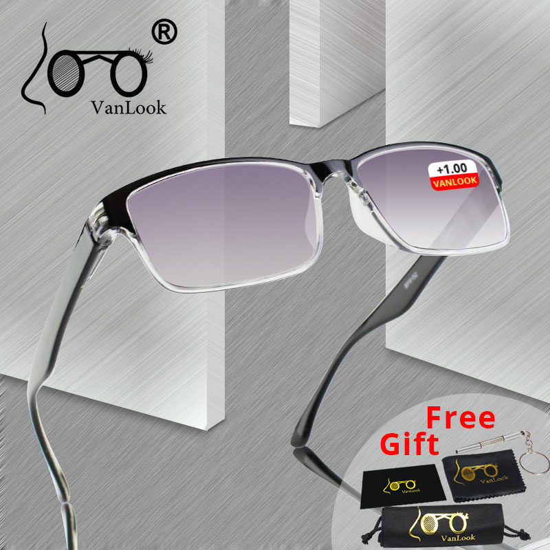 AliExpress - Men Reading Glasses For Sight Gradient Grey Lens Anti UV400 Glass Spectacles Gafas Lectura Retro +1 +1.25 +1.75 2 2.25 2.75 3.25