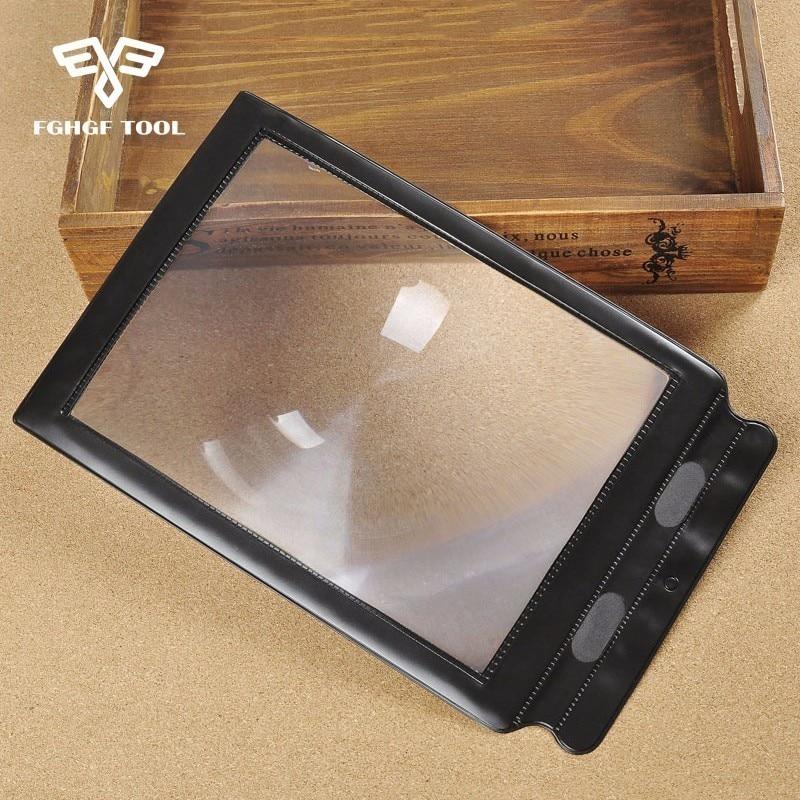FGHGF Bolso A4 3X Full Page Fresnel Lens Cartão Flexível Leitura Lupa Lupa Ferramenta