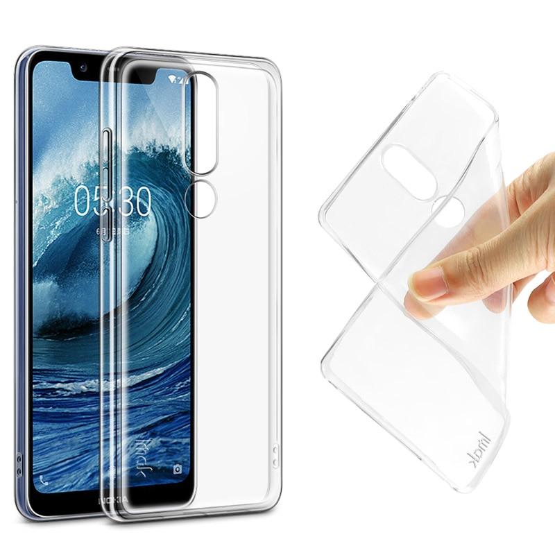 Cristal suave TPU para Nokia X5 Funda Nokia 5,1 Plus cubierta trasera de silicona transparente para NokiaX5 Nokia5.1 Plus X 5 5,1 Plus