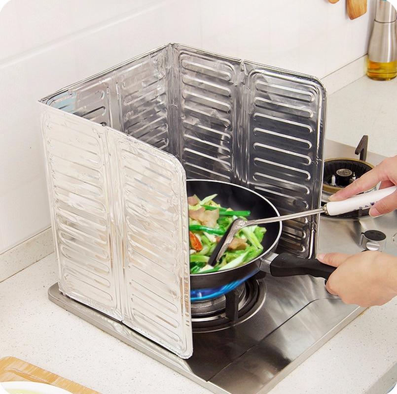 Cocina gas cocina deflector placa de aluminio Placa de aislamiento freír aislamiento térmico aceite salpicaduras deflector