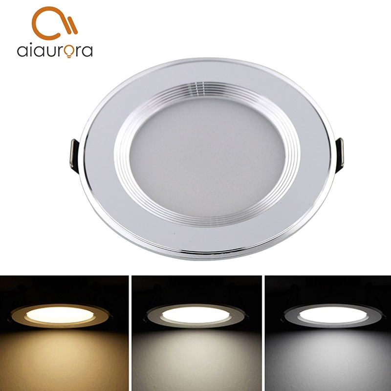 1 pcs À Prova D Água Regulável LED Downlight AC110V 220 V 7 W/9 W/12 W/15 W/18 W/25 W/50 W LED Lâmpada Luz Recesso LEVOU Spot Light Para O Banheiro