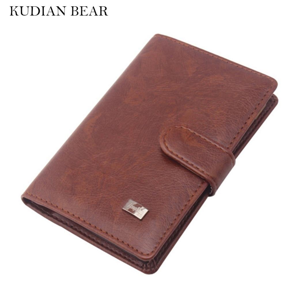 Чехол для паспорта KUDIAN BEAR из искусственной кожи, мужской кошелек для путешествий, держатель для карт, чехол для русского бумажника, чехол для паспорта BIH009 PM49