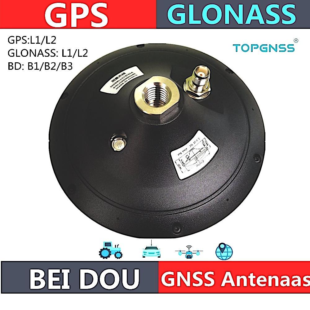 هوائي عالي الجودة من GNSS RTK لاقط هوائي لاستخدامات تحديد المواقع هوائي Glonass Beidou ، مقاوم للماء عالية الدقة لاستقصاء CORS RTK لاستقبال هوائي ، TOPGNSS