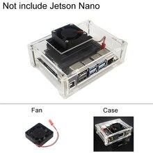 Boîtier en acrylique Transparent pour NVIDIA Jetson Nano Kit panneau bouclier   accessoires de radiateur de ventilateur de refroidissement