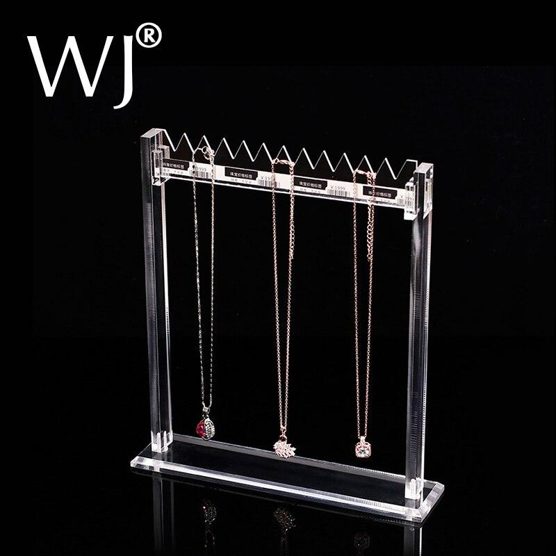 Klar Lucite Staffelei Anhänger Halskette Schmuck Display Rack Stand Organizer Halter Acryl Armband Kette Charme Shop Schaufenster Regal