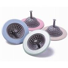 1 Pc Sink Strainer Silicone Paglia di Grano Cucina Bagno Anti-blocco Strumenti di Scarico del Lavandino Rotondo Spina Coperchio di Scarico A Pavimento filtro per lacqua