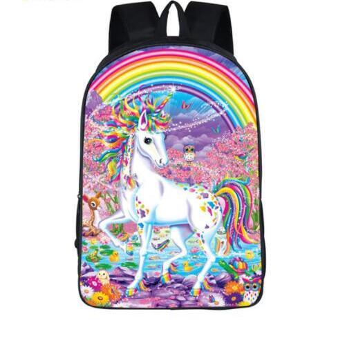 Новый рюкзак с рисунком пони, школьные детские школьные сумки для девочек и мальчиков, рюкзак с изображением панды и лошади для малышей, Дет...