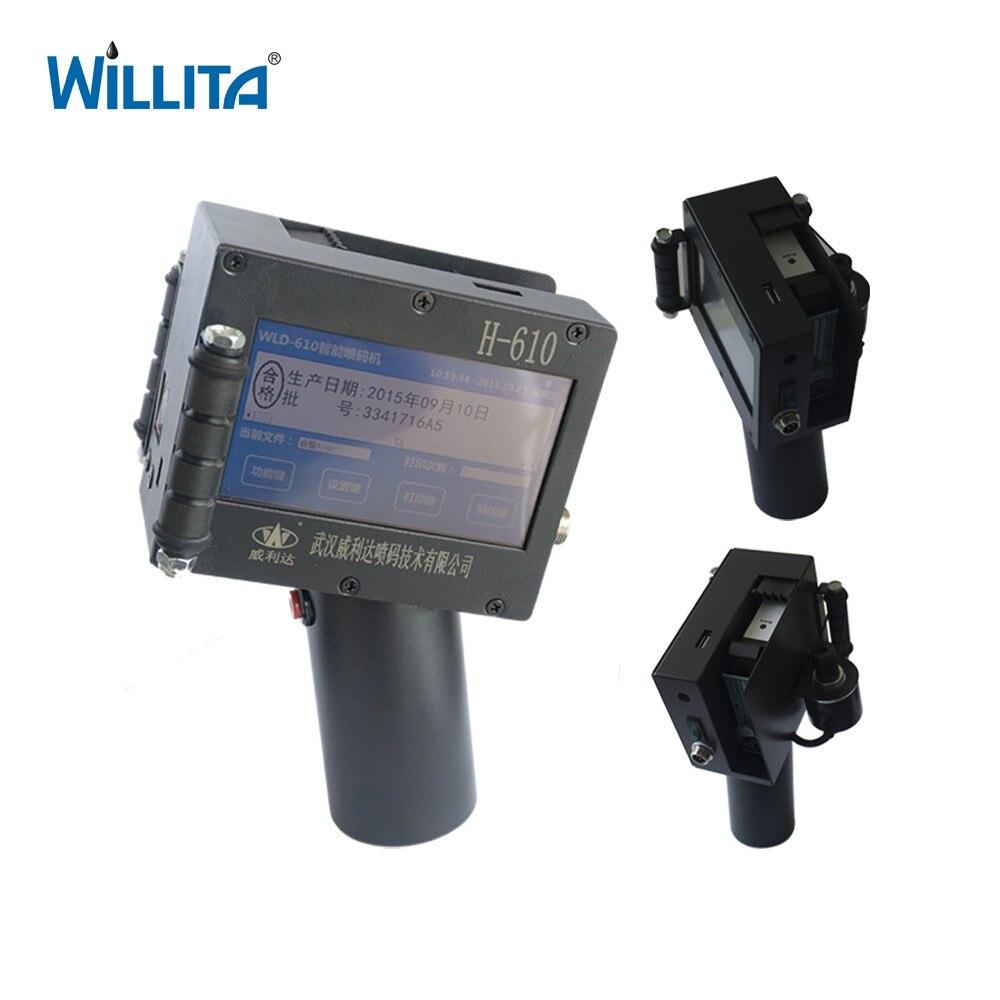 Willita 610 portátil y en línea fecha de caducidad código de barras qrcode ink jet impresora boxs
