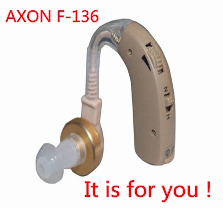 Nuevo Producto, amplificador de sonido inalámbrico AXON F-136 BTE, dispositivo de audición médica, 2 unids/lote envío gratis