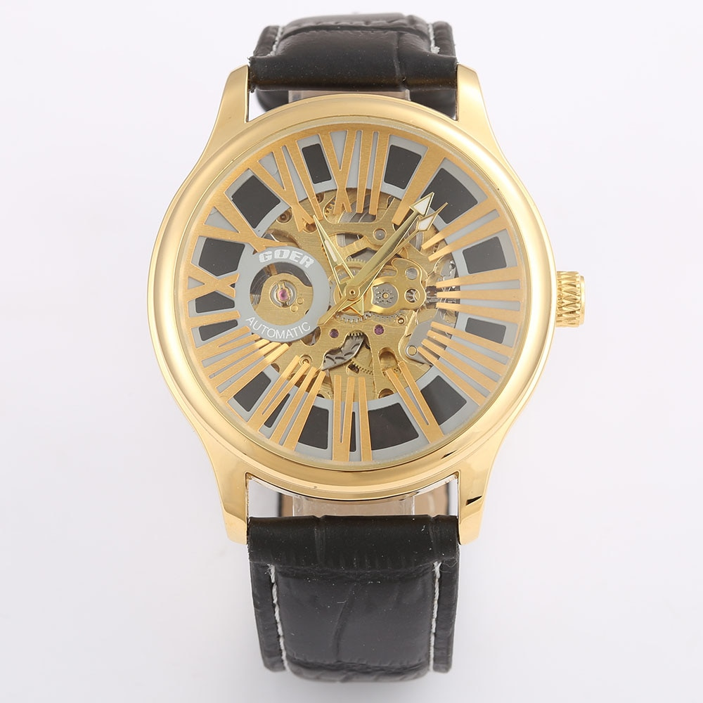 Relogio Masculino Top Brand  Watches Luxury Gold Skeleton Automatic Mechanical Wrist Watches For Men